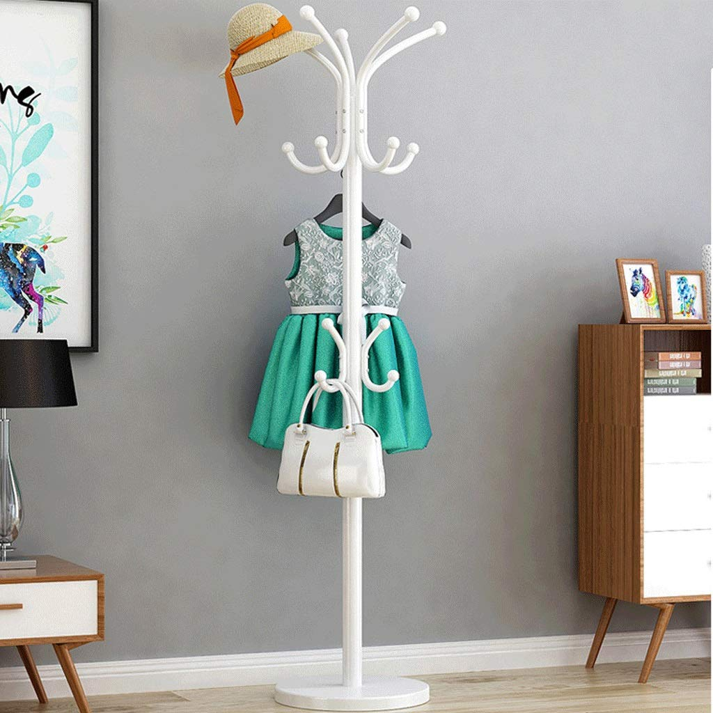 B Zxwzzz Coat Rack Hanger Floor Bedroom Coat Single Hanger Household Hanger Single Pole Single Rod Hanger Multi-Function Rack (color   A)