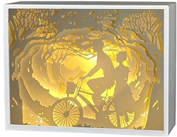 BOSHENG - Cajas de luz de Papel, Caja de Sombra 3D, Lámpara LED de ...