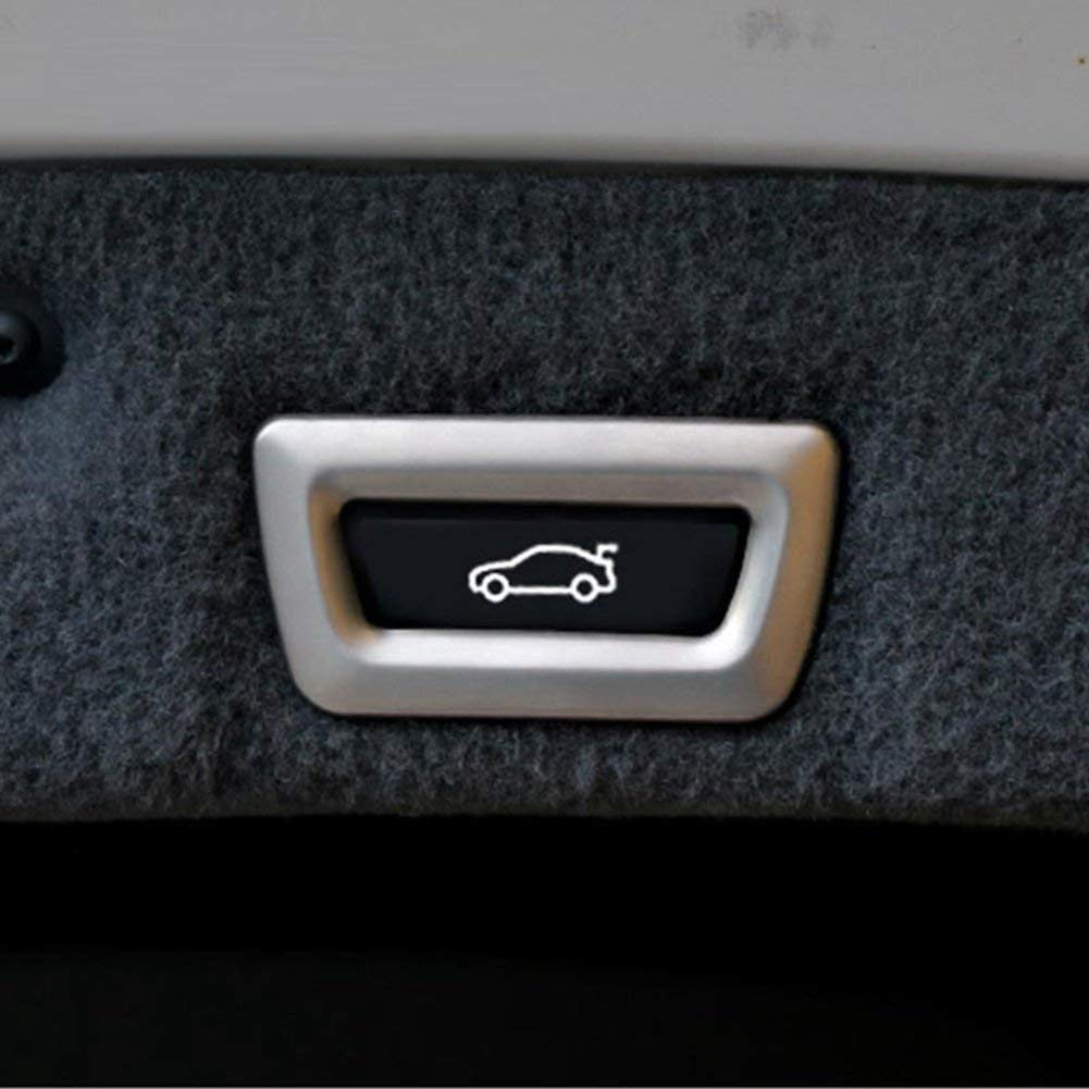 Interior Auto Vehicle Accessory 1 pcs//set Tail Door Button Cover Trim Sticker ABS Plastic Style 2 for BMW X1 f48 X3 f25 X4 f26 X5 f15 X6 3 Series f30 GT 7 5 Series