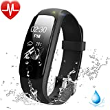 Fitness Tracker Watch with Heart Rate Monitor, Lintelek IP67 Waterproof Activity Tracker, with Multiple Sports/ Steps Counter/ Sleep Monitor/ Connected GPS Wristband for Android and iOS Smartphone