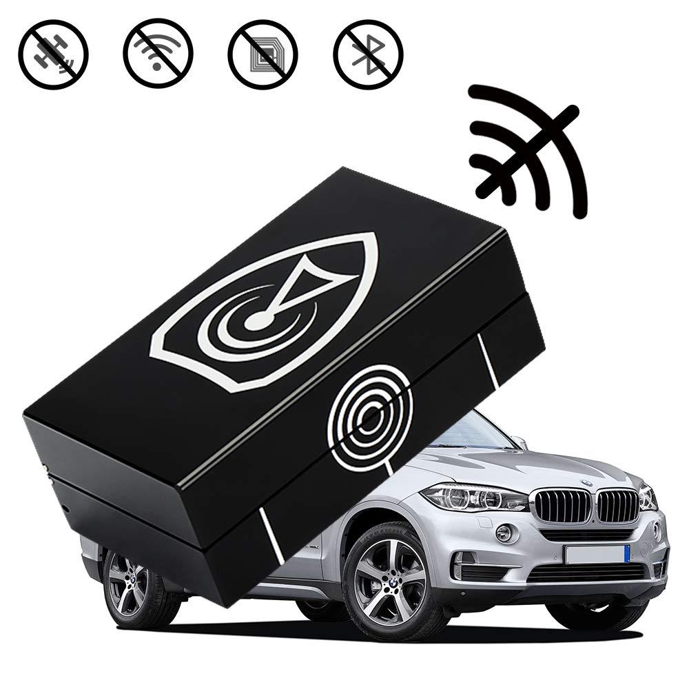 Issyzone RFID Boîte de Protection en Aluminium pour clé de Voiture Noir