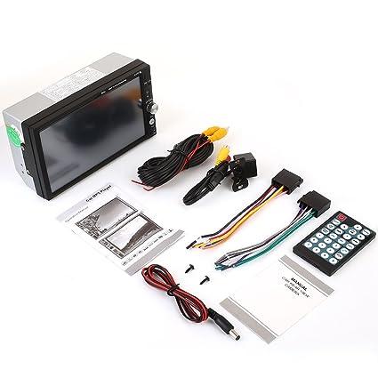 muxiao Reproductor MP5 Auto MP5 7 Pulgadas 2 DIN Espejo Premium Control Remoto Bluetooth
