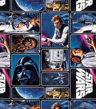 Amazon Com 1 Yard Star Wars Painted Characters 100 Cotton