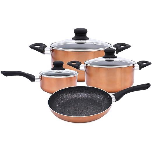 Amazon.com: Bergner 7 pc Set de cocina revestimiento de ...