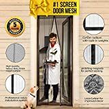 Magnetic Screen Door Magnet Mesh I Premium Magic Curtain with Magnets & Mosquito Screens I Bug Net for Doors [Upgraded 2018 Version] up to 39'' x 82'' Max
