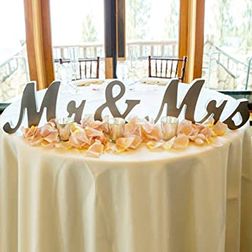 Mr And Mrs Sign Tinksky Wedding Decoration Wedding Present Silver Mr Mrs Wooden Letters