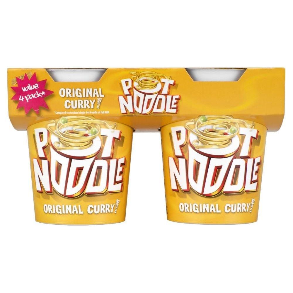 Pot Noodle Original Curry (4x90g) by Pot Noodle