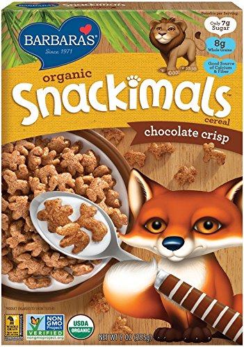 Barbara's Bakery Snackimals Cereals, Chocolate Crisp, 9 - 696 Kids