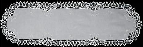 amazon com creative linens white battenburg lace table runner 16x43
