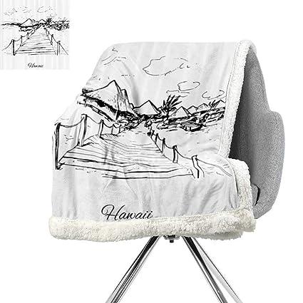 Amazon com: Hawaiian Decorations Collection Digital Printing Blanket