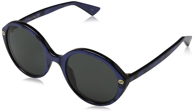 9a93689da4189d Gucci GG0023S 004, Montures de Lunettes Femme, Bleu (Bluee Grey), 55  Amazon .fr  Vêtements et accessoires