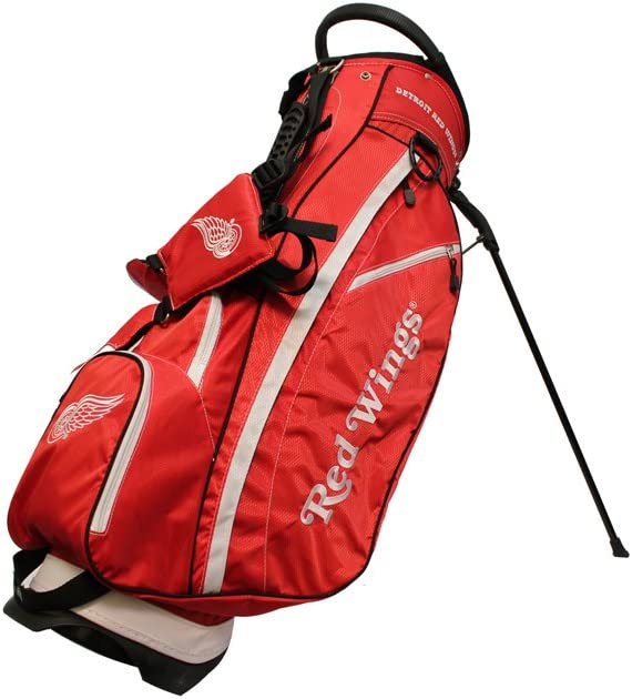Team Golf NHL Calgary Flames Fairway Golf Stand Bag, Lightweight, 14-way Top, Spring Action Stand, Insulated Cooler Pocket, Padded Strap, Umbrella Holder & Removable Rain Hood : Sports & Outdoors