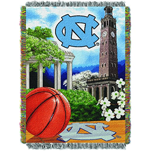 UNC OFFICIAL Collegiate, Home Field Advantage 48 x 60 Woven Tapestry Throw ()
