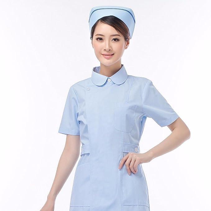 Xuanku Los Médicos Usan Batas Blancas, Enfermera UCI Manga Corta Ropa, Enfermeras, Enfermeria, Medicina Tienda Ropa, XXL, Azul: Amazon.es: Ropa y accesorios