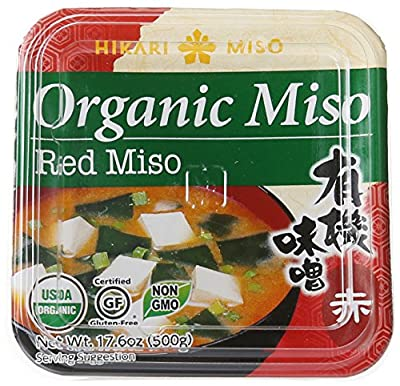 Hikari ORGANIC Red Miso Paste - 1 tub, 17.6 oz from Hikari Miso