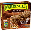 Nature Valley Granola Bars, Crunchy, Oats and Dark Chocolate, 6 Pouches - 1.5 oz, 2-Bars Per Pouch (Total 12 Bars) by Nature Valley