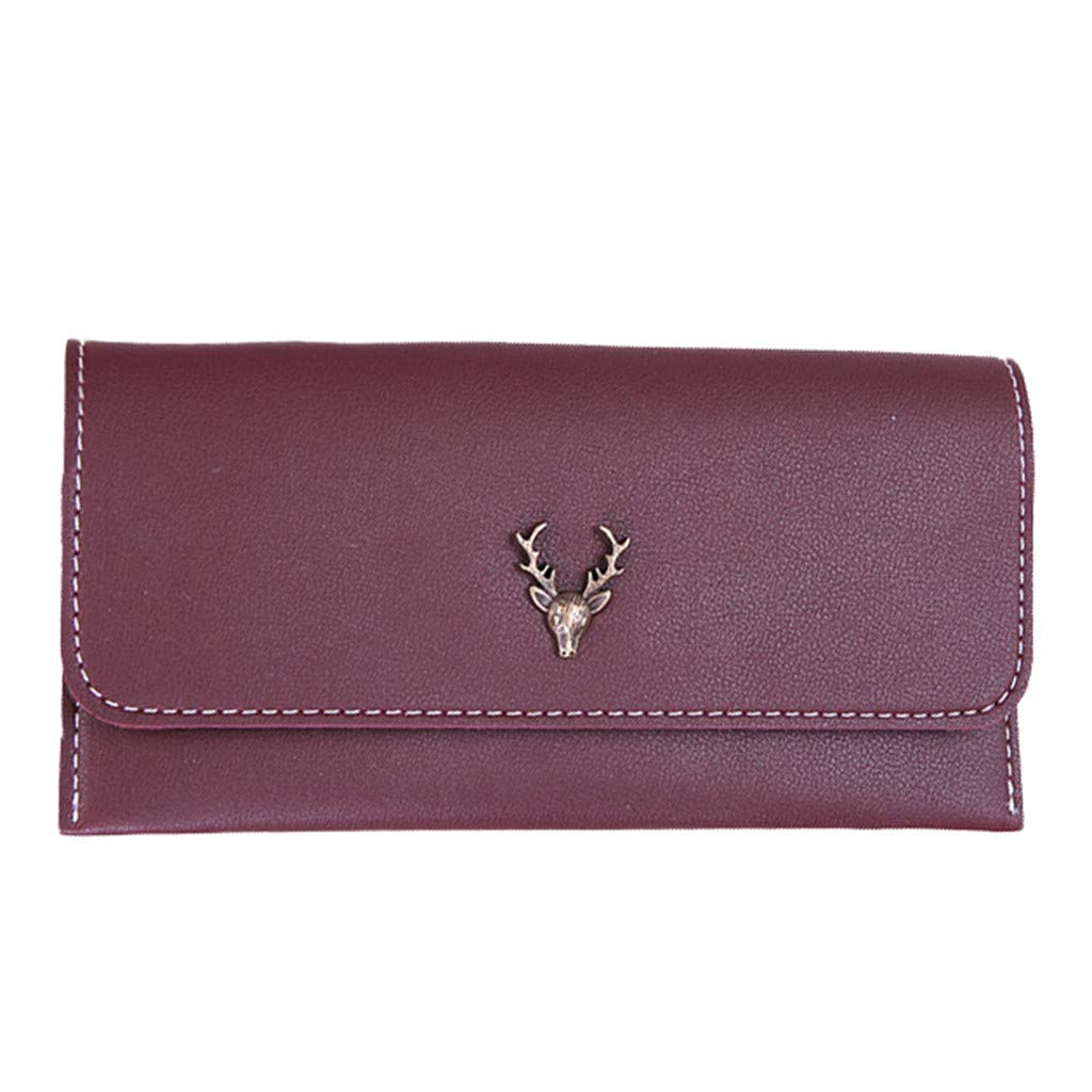 Bag For Women 2019 New Artificial Leather Retro Girls Long Paragraph Simple Solid Color Deer Purse Wallet