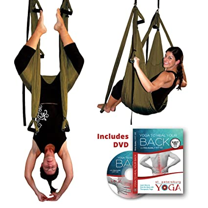 Amazon.com: Inversion Sling – Yoga Swing (Bronce): Sports ...