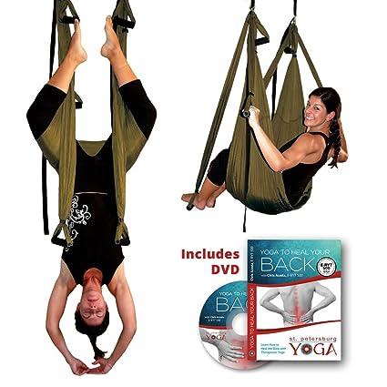Amazon.com: Inversion Sling – Yoga Swing (Bronce): Sports ...