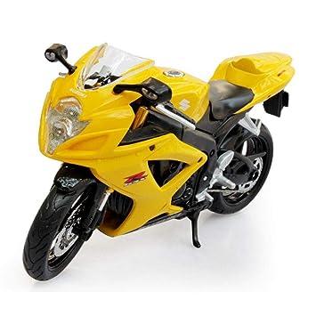 Penao Modelo de aleación Suzuki Suzuki GSX-R600 Motocicleta, Adornos de Coche Modelo,