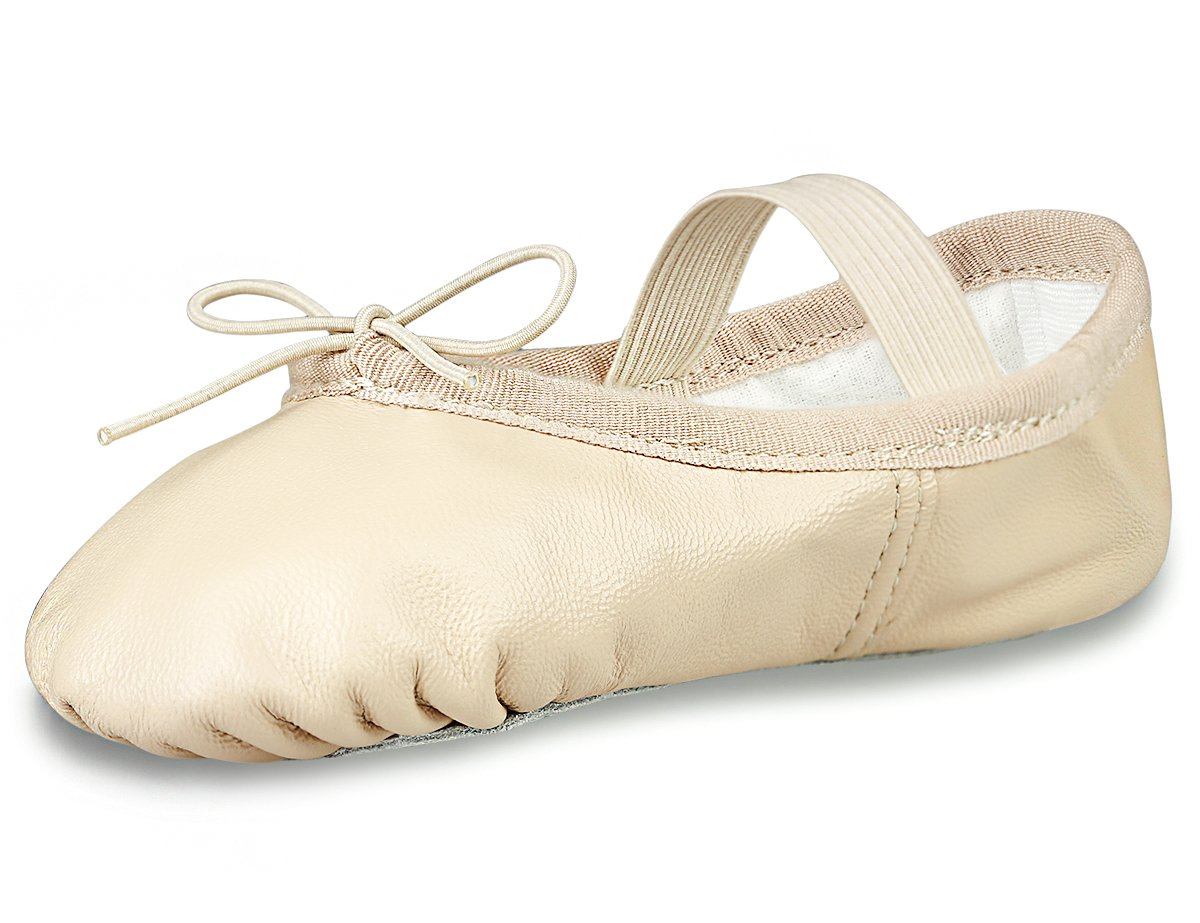 MdnMd Ballet Shoes for Girls in Leather by (Pink)