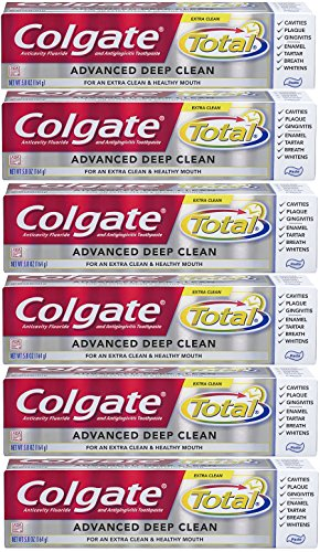 Colgate Total Advanced Deep Clean Toothpaste - 5.8 ounce (6 Pack)