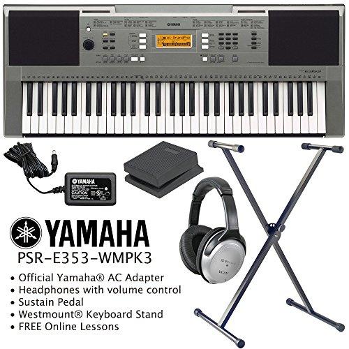 Yamaha psr e353 keyboard including official adapter for Yamaha keyboard sustain pedal