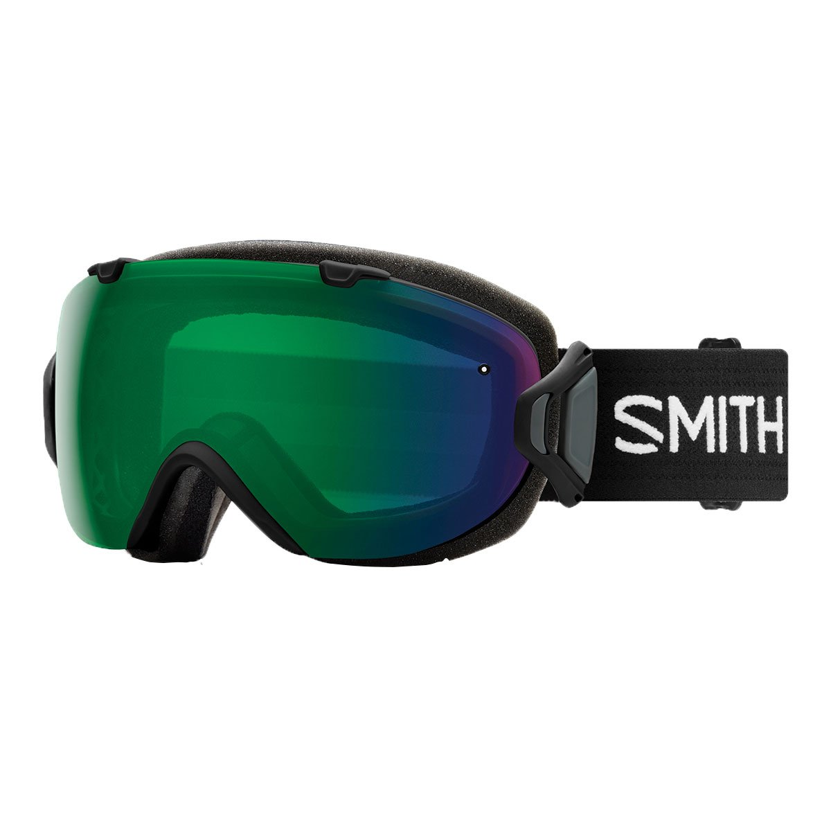 Smith Optics Womens I/OS Snowmobile Goggles Black / ChromaPop Everyday Green Mirror