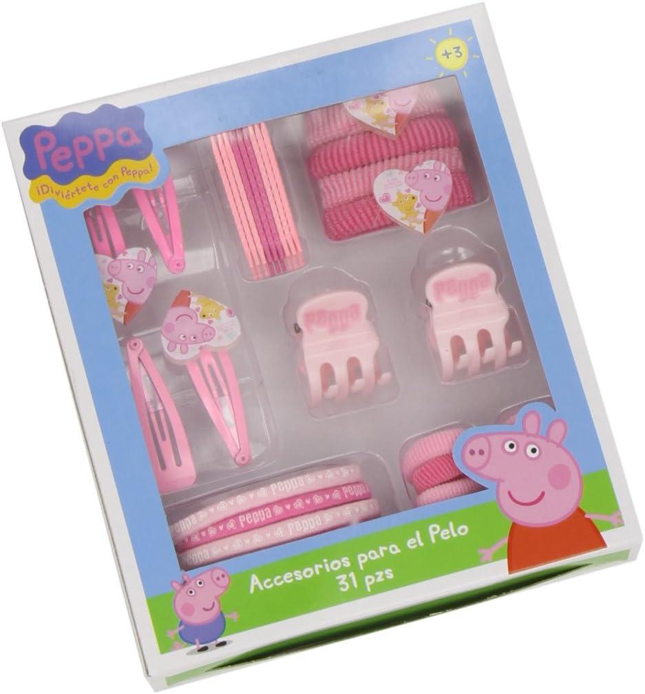 Peppa Pig - Estuche con 31 Accesorios para Pelo (Artesanía Cerdá 2502-194): Amazon.es: Juguetes y juegos