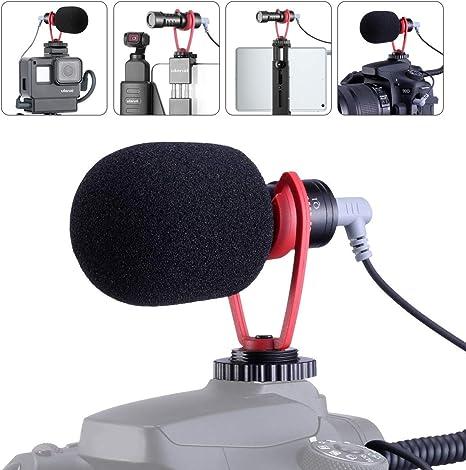 SAIREN - Micrófono de vídeo Vlog, Conector direccional cardioide y micrófono de difusión con Alta sensibilidad para DSLR/cámara para iPhone 11 Pro MAX Smartphone: Amazon.es: Electrónica