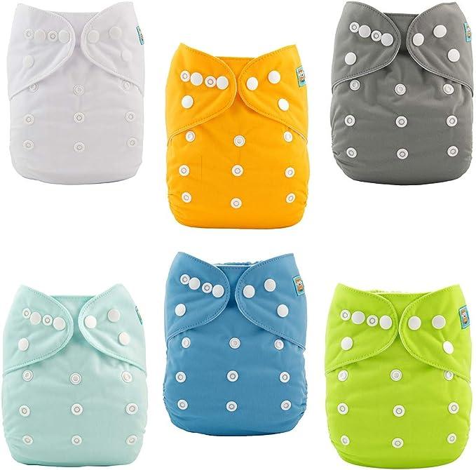 Amazon Com 6 Pack Bebe Los Bebes De Panales De Tela Reutilizables Lavables Panales De Bo Clothing