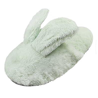 Amazon.com | Cartoon Rabbit Cozy House Slippers, Women\'s Girls Men\'s ...