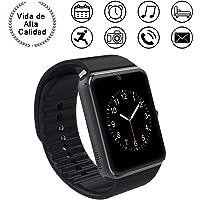 GT08 Smart Watch, KOSCHEAL Bluetooth con Pantalla Táctil de Reloj Inteligente con Pulsómetro y Presión Arterial , Monitor de Calorías, Sueño,Pulsera Inteligente Sports Fitness Tracker Reloj con Teléfono Android Compatible con Teléfonos Android (Partial Compatible for IOS IPHONE)