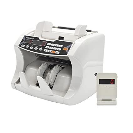 Aibecy Bill Counter Money Counting Machine Automatic Multi-Currency Cash Banknote with UV MG Counterfeit