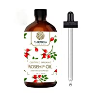 Rosehip Oil 4Oz Large Bottle with Gift Box - 100% Pure & Cold Pressed. All Natural Anti-Aging Moisturizing Treatment for Face, Hair, Skin & Nails, Acne Scars, Wrinkles, Dry Spots