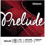 D'Addario Prelude Violin Single D String, 4/4 Scale, Medium Tension