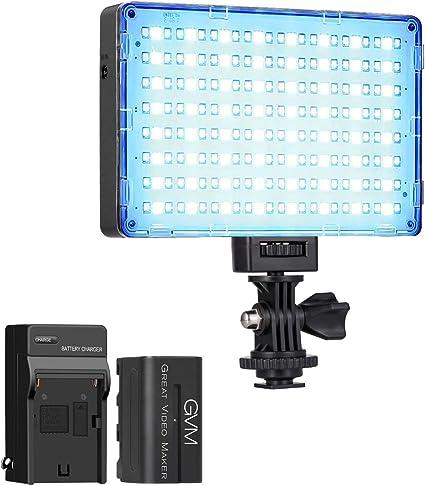 Gvm Led Kameralicht Mit Akku Rgb Kamera Led Fotolicht Kamera