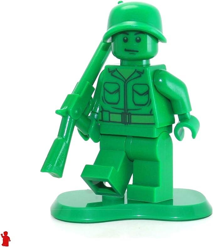 NEW Lego Toy Story GREEN MINIFIG HEAD Boy Smile Army Man Medic Soldier Head 7595