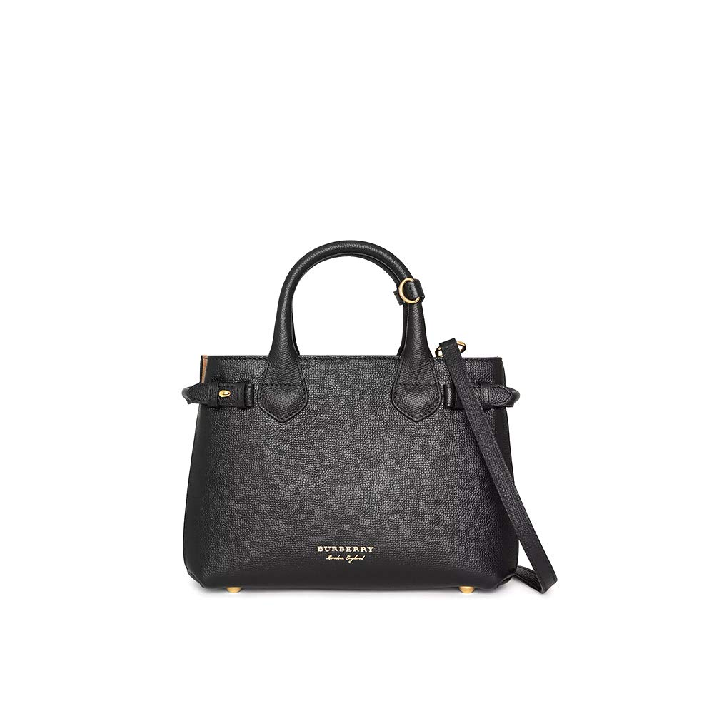 696b3a5070 Amazon.com: So-Burberry The Small Banner in Leather and House Check shoulder  bag handbags (Black): Cell Phones & Accessories