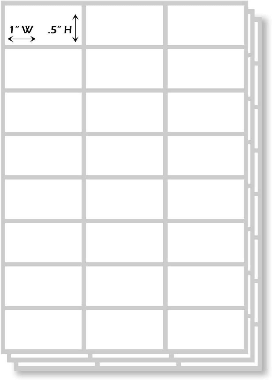1 x .5 Stick On Rectangle Tag 1008 Pack All Purpose Plain White Rectangular Self Adhesive Labels