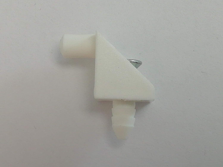 12 St/ück Winkelbodentr/äger Bodentr/äger mit Schraube 5 mm wei/ß
