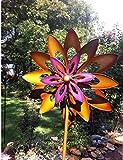 USA Premium Store large 2 ft Kinetic wind Sculpture Modern Art Dual spinner metal outdoor Pinwheel