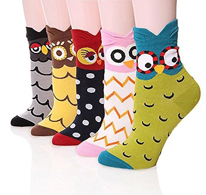 Mujer Calcetines calcetines térmicos De Dibujos De Animales calcetines de algodón: Amazon.es: Ropa y accesorios