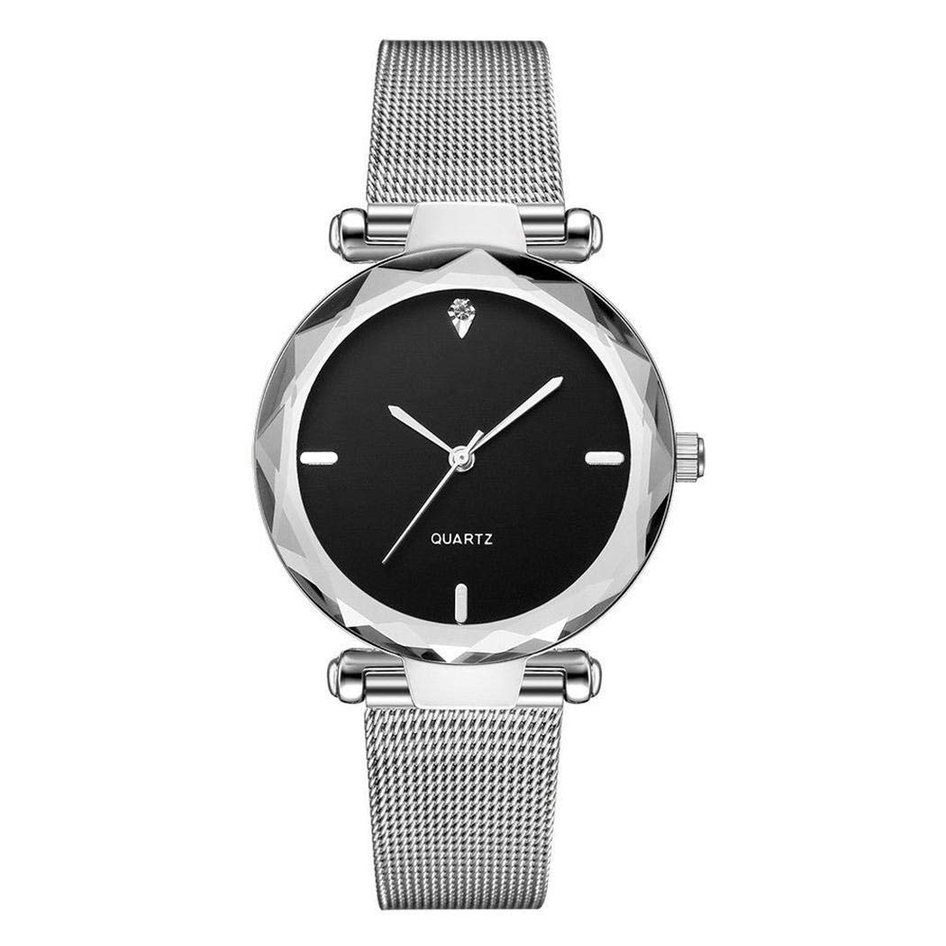Women Fashion Elegant Round Quartz Analog Wristwatch With Steel Mesh Strap at Amazon Womens Clothing store: