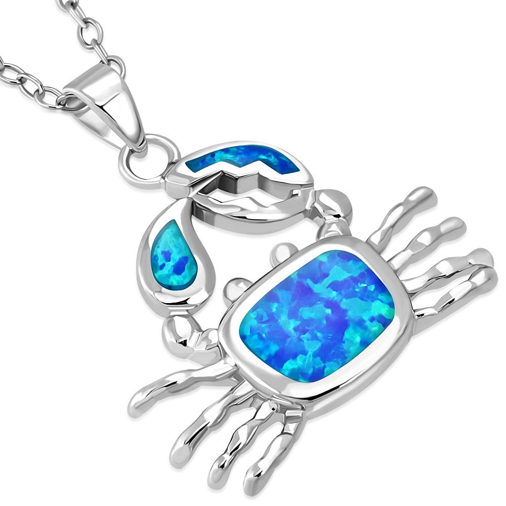 925 Sterling Silver Gold-Flashed Simulated Turquoise Simulated Opal Hand Of God Necklace 18 Inch