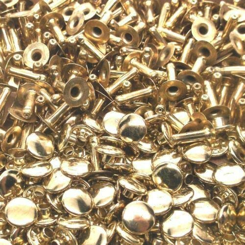 Brass Plated/Small Size Rapid Rivets 500 Pack L2-100-box 2