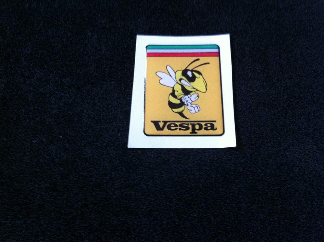 1 Aufkleber Mit Harz Beschichtet Aufkleber 3d Piaggio Emblem Emblem Badge Vespa Alte Selten Insektenschutz 33 7 X 43 7 Mm Auto