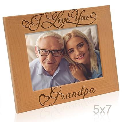 Amazon.com - Kate Posh I Love You Grandpa-Natural Wood Engraved ...