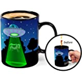 BigMouth Inc Color Changing UFO Mystery Mug, Holds 16oz, Ceramic Cup for Coffee and Tea with Handle, Funny Novelty Cup