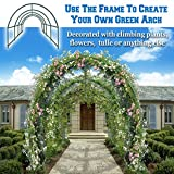 BenefitUSA Multi-use Support Arch Frame for Climbing Plants/Flowers/Vegetables, plant Trellis (24.6'X10' X 7')